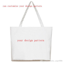 52b4924b4a9b professional custom canvas leisure bags shopping tote bag can be customized  single canvas shoulder handbag print design pattern wholesale.