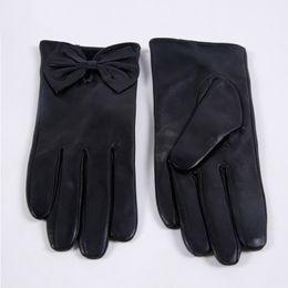 $enCountryForm.capitalKeyWord NZ - women' Genuine Leather Gloves Real Sheepskin Natural fur Gloves & Mittens 2017 winter Real Sheep Fur black for winter