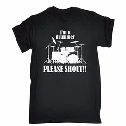 Buy Shirt T Canada - Buy Shirts Men's Short Men's I'M A Drummer Please Shout !! Loose Fit T-Shirt Crew Neck Zomer T Shirts