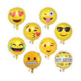 Emoji Party Decorations Australia - Emoji Foil Helium Balloons Aluminum Balloons Party Decoration Inflatable Wedding Balloon Birthday Party Decorations Free Shipping QW8560