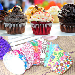 Cupcake Muffins Cake NZ - Wholesale- 100 PCS Paper Cake Cup Chocolate Liners Baking Pastry Tools Muffin Cake Party Birthday Wedding Cupcake Cases