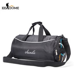 In Quality Black Lightweight Foldable Backpack Male Handbags Nylon Men Women Fitness Shoulder Sport Gym Bag Yoga Bag Large Capacity Luggage Superior