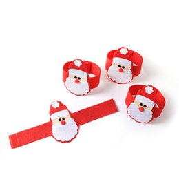Party Napkin Holders UK - 4pcs set Christmas Santa Claus Napkin Rings Serviette Holders XMAS Party Dinner Table Decor Home Restaurant Christmas QW873677