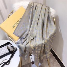 Scarfs Cotton Australia - Classic feminine silk and cotton printed word scarf shawl elegant four seasons comfortable soft brand scarf