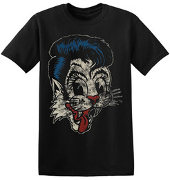 aff1b4a0e959 The Stray Cats T Shirt Rockabilly Vintage Rock Band Graphic Print Tee  1-A-040