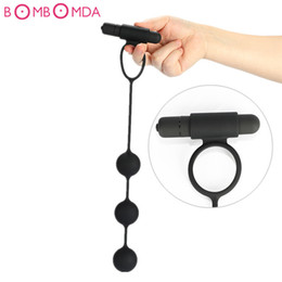 Play Toys For Men Australia - Male Prostate Massager with Ring Orgasm Vagina Plug Play Pull Ring Ball Anal Vibrator Butt Plug Adult Sex Toys for Man Women Gay D18110505