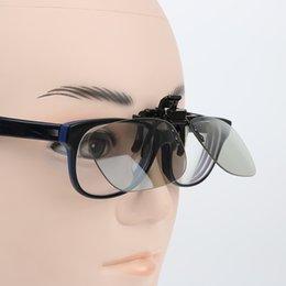 Glasses Clip On Circular 3D Polarized Myopia Eye Glasses Lens TV Cinema Movie Film Imax