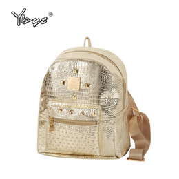 Backpacks Shops Canada - YBYT brand 2017 new casual women rivets rucksack preppy style girls small bookbags female shopping bags ladies travel backpacks