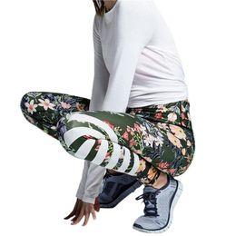 $enCountryForm.capitalKeyWord Australia - Summer Womens Sports Leggings Floral Printed Yoga Push Up Hip Leggings Striped Pants Workout Gym Jeggings fitness T0490