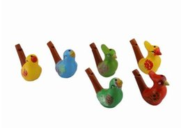 Whistle Toy Bird Wholesale UK - new arrival water bird whistle clay bird ceramic Glazed bird whistle-peacock Birds toys