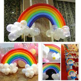 $enCountryForm.capitalKeyWord Canada - Hot sale party decoration rainbow latex balloon decoration wedding Valentine's Day birthday party supplies latex balloon HFB26