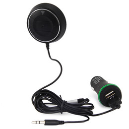 Microphones Built Speakers Australia - Fast NFC Paring Wireless Bluetooth Music Receiver Adapter Hands-Free 3.5mm Car AUX Speaker Built-In Canceling Microphone