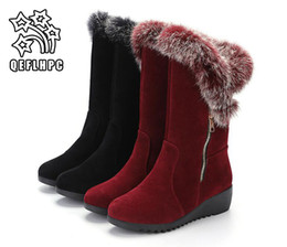 Motorcycle Hair Australia - 2018 new Women's shoes. Winter Half boots. Casual fashion Women's boots. Keep warm. Waterproof. Martin. suede. Leather. Rabbit's hair.