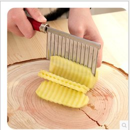 fry steel Australia - Creative multi-purpose stainless steel wavy cut french potatoes cut knife kitchen cut French fries tools