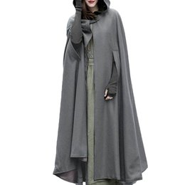 $enCountryForm.capitalKeyWord UK - Winter Women Button Open Front Cardigan Overcoat Hooded Coat Oversized Retro Irregular Long Poncho Cape Trench Cloak 2018 Autumn