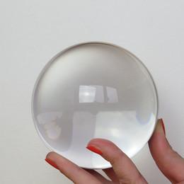 Magic Crystal Healing Ball NZ - balls magic Natural Magic Healing Crystal Balls Paperweight Sphere Quartz Transparent 60mm With Crystal Wooden Remove Stand Craft