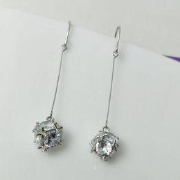 $enCountryForm.capitalKeyWord Australia - new European and American fashion exquisite jewelry lady zircon long block and cube shiny earrings fashion designer earrings