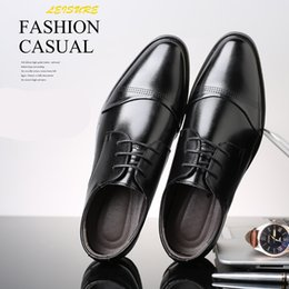 Party Shoes For Men Australia - designer men formal shoes leather italian brand oxford shoes for men office shoes men apatos de vestir hombre scarpe uomo eleganti ayakkabi