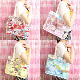 b2f90ea2c0 High Quality Cartoon My Melody Hello Kitty Cinnamoroll Clear Jelly Transparent  PVC Shopping Bag Portable Travel Shoulder Bag