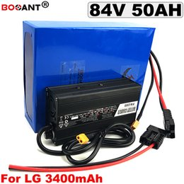 Motor Bicycles Australia - Powerful 84V E-bike Lithium Battery 84V 40AH electric Bicycle Battery for LG 18650 Lithium battery 84V 3000W 5000W 7000W Motor