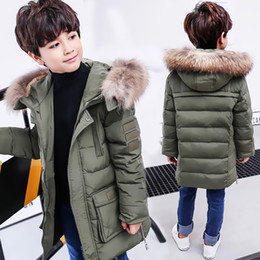 $enCountryForm.capitalKeyWord Australia - Boys Winter Jacket For Cold Winter Children Thick Duck Down Parkas Animal Fur Collar Kids Outerwear Boy Winter Coat -30 Degree