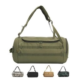 10pcs Camouflage Duffel Cylinder Bag Canvas Travel Backpack Rucksack Men  Outdoor Gym Hiking Camping Yoga Luggage Weekender Shoulder Bag 0edf715f63816