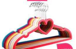Hanger Clothes Save Space Australia - Premium Flocked Heart-Shaped Velvet Clothes Hangers Space-Saving No Slip Hangers
