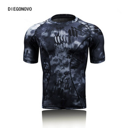 China Spring summer Bionic short Sleeves T-Shirt Camouflage Clothing Hunting Shirt Clothes Hoody Fishing Clothes Fishing t-shirts Sport gym supplier hunting fishing clothes suppliers