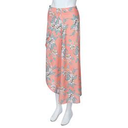 49fee73de0a FEITONG 2018 Women High Waist Plus Size Party Long shirt Floral Print Waist  Slit Long Skirt Sexy Bohe Sweet Skirt