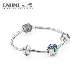 Chinese  FAHMI 100% 925 Sterling Silver Snowy Wonderland Bracelet Gift Set fit DIY Original charm Bracelets jewelry A set of prices manufacturers