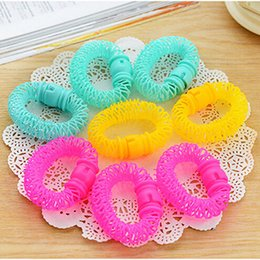 plastic rollers for hair 2019 - 8 Pcs New Designer Plastic Colorful Lovely Hair Roller Rollers For Beauty Women Girls Hair Styling Tools cheap plastic r