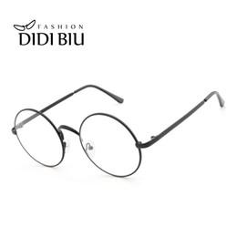 7dbfb3cf49 Designer Spectacles Frames Men NZ - DIDI Round Clear Lens Eyeglass Frame  Retro Thin Metal Optical
