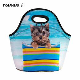 dark chocolate dogs 2019 - INSTANTARTS 3D Animal Dog Pattern Picnic Bags Outdoor Hiking Camping Storage Bags Women Men Thermal s Tote Handbag cheap