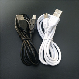 White Black 1m V3 5pin 5P Mini USB to USB 2.0 Cable Data Sync Charge Cable for MP3 MP4 GPS Camera Mobile Cell Phone High Quality FAST SHIP on Sale