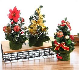 Office desk gifts online shopping - Hot Home Merry Christmas Tree Bedroom Desk Decoration Toy Doll Gift Office Home Children Natale Ingrosso Christmas Decorations for Home