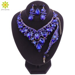 $enCountryForm.capitalKeyWord UK - ridal jewelry sets Gorgeous Crystal Bridal Jewelry Sets Wedding Necklace Bracelet Earring Set For Brides Party Accessories Decoration Gif...