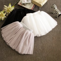 tutu 5t NZ - Girls Tutu Skirt Fluffy Mini Skirt Children Girl Skirt Kids Ball Gown Girl Summer Tulle Mesh Dance Skirts