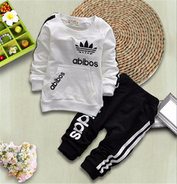 Discount baby fashion clothes - Hot Sale Children Sport Clothing Sets Baby Boys Girls Fashion Jacket Pants 2Pcs Sets Spring Autumn Kids Brand Clothes To
