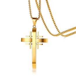 Discount gold wholesale cross pendants for necklaces 2018 gold discount gold wholesale cross pendants for necklaces crusaders cross pendant for men necklace stainless steel aloadofball Choice Image