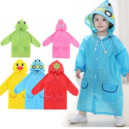 Wholesale 1PCS Children s cartoon raincoat Korean children s rain gear Cute baby poncho household goods playground Songkran Festival
