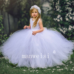 $enCountryForm.capitalKeyWord Australia - First Communion Dress for Baby Pearl Appliques Ribbon Ruched Short Sleeve Girls Prom Gowns Ivory Floor Length Organza Flower Girl Dresses