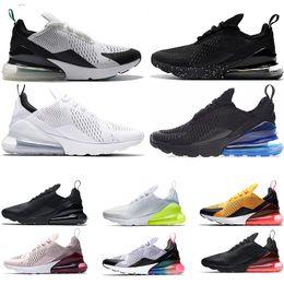timeless design 2c448 3b405 Nike air max 270 mens running shoes SEA VERDADERO Blanco Volt triple blanco  negro punto Punch Teal mujeres zapatilla de deporte hombres entrenadores  calzado ...