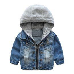 459c8a63d 2018 Kids Denim Jacket Boys Jean Coat Clothing Fashion Causal Girls  Cardigan Children Outerwear Cowboy Toddler Hooded 2-8yrs
