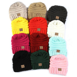 cde9a51890c Fashion Kids Baby Children Knitted Beanies CC Hat for Sport Casual Hats  Outdoor Winter Warm Caps for Boy Girls Lable Warm Hats