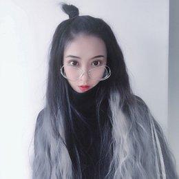 Chinese  Wig Woman Long Curly Hair U Half Headgear Lifelike Corn Burn Instant Noodles Volume Fashion Grandma Ash Gradual Change Goods In Stockby haif manufacturers