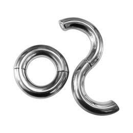 $enCountryForm.capitalKeyWord UK - Heavy Duty Magnetic Stainless steel Ball Scrotum Stretcher penis Cock Ring For Big Man Delay vejacula Sex Toy adult product Y1892804