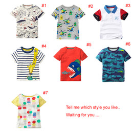 46bb071c 2018 INS NEW ARRIVAL Boys Girls Kids Clothes short Sleeve cartoon animal  print t shirt kid baby summer cool casual T shirt