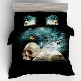 $enCountryForm.capitalKeyWord UK - Adult Boy's Football Quilt Cover Pillow Cover 3D Sugar Skull Book Duvet Basketball Bedding Set Twin Full Queen King Size
