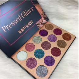 Glitter Pigment Eyeshadow Palette Canada - 2018 Beauty Glazed Face Makeup Eyeshadow Palettes 15 Colors Glitter Shimmer Eye shadow Pigment DHL shipping