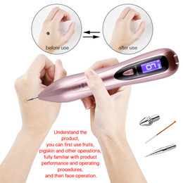 beauty gear Canada - Laser Dark Spot Remover Facial Mole Tattoo Removal Tool Wart Skin Tag Removal Pen Face Machine Beauty Care Device 6 Gears